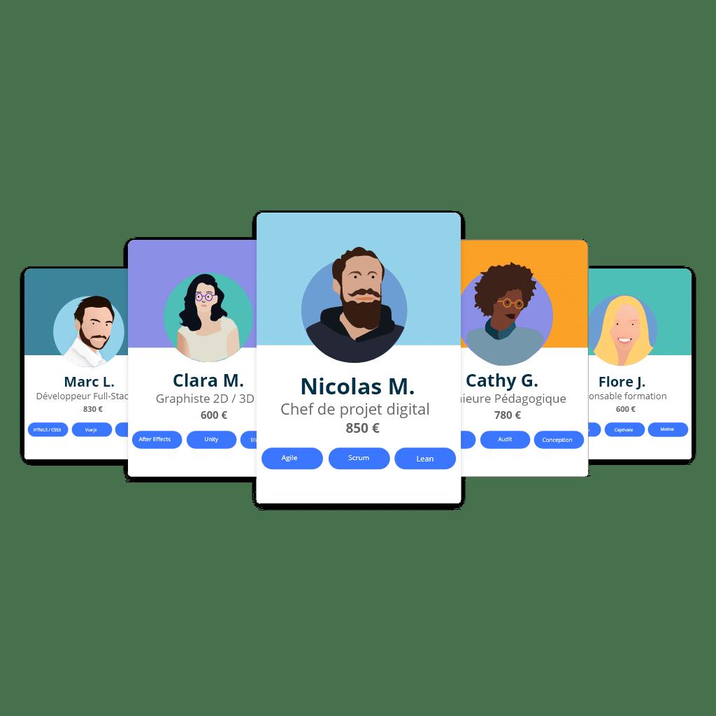 image pour créer formation en ligne avec profils freelance